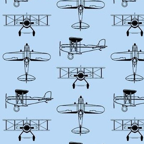 Biplanes on Baby Blue // Small