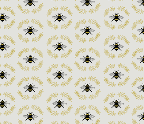 Busy Bee fabric by wildflower_like_grace on Spoonflower - custom fabric