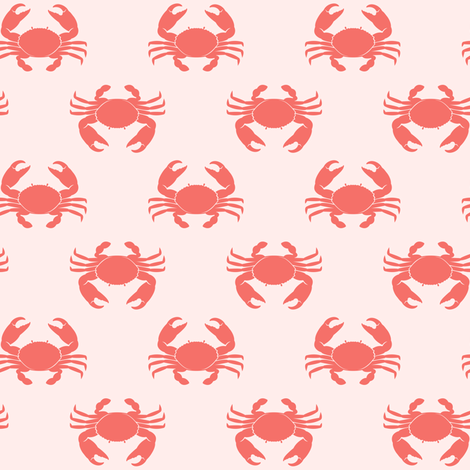 crabs - pink fabric by littlearrowdesign on Spoonflower - custom fabric