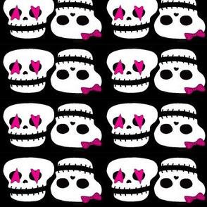 skater skull love