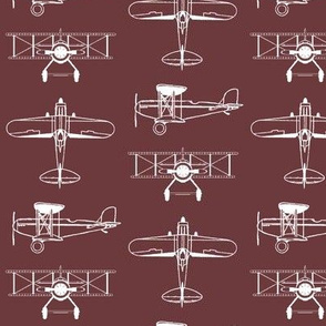 Biplanes on Tosca Red // Small