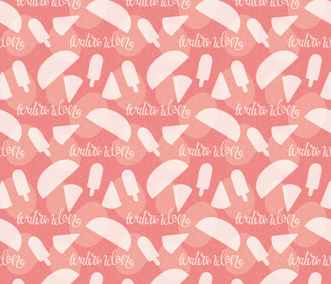 water melon sillohette  fabric by ray7an_art on Spoonflower - custom fabric