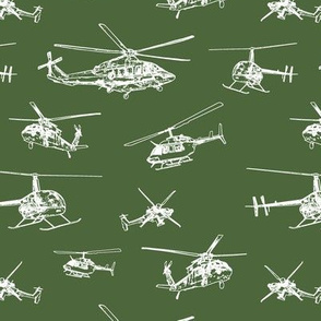 Helicopters on Chalet Green // Small
