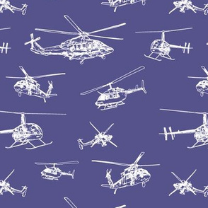 Helicopters on Victoria Violet // Small