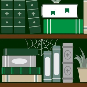 Book Case Pattern Green And Grey