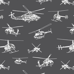 Helicopters on Charcoal // Small