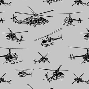 Helicopters on Silver // Small