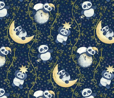 Sh, Sh, Panda Is Sleeping fabric by marketa_stengl on Spoonflower - custom fabric