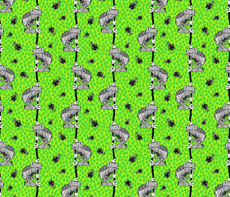 Frog dots fabric by tarutuulikki on Spoonflower - custom fabric
