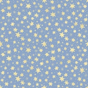 Yellow Stars on Light Blue