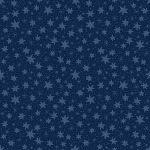 Blue Stars on Midnight Blue