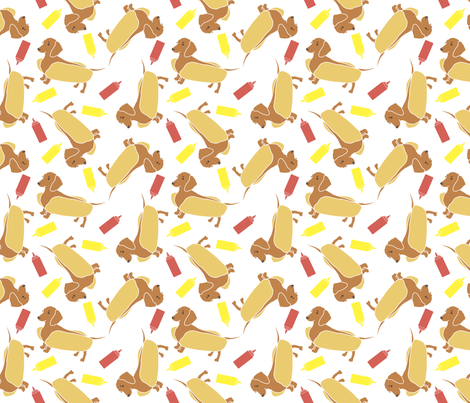 Weenie Dog fabric by nicebutton on Spoonflower - custom fabric