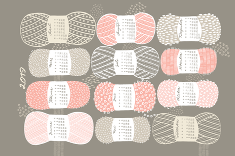 German 2019 Calendar, Monday / Knit Your Dream fabric by marketa_stengl on Spoonflower - custom fabric