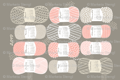 2019 Calendar, Sunday / Knit Your Dream