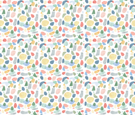 Multicolor Terrazzo fabric by morecandyshop on Spoonflower - custom fabric