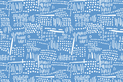 Abstract Tribal (Blue) fabric by kate_rowley on Spoonflower - custom fabric