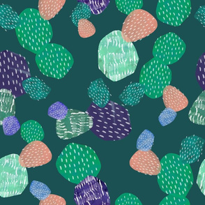 Abstract Cactus Green