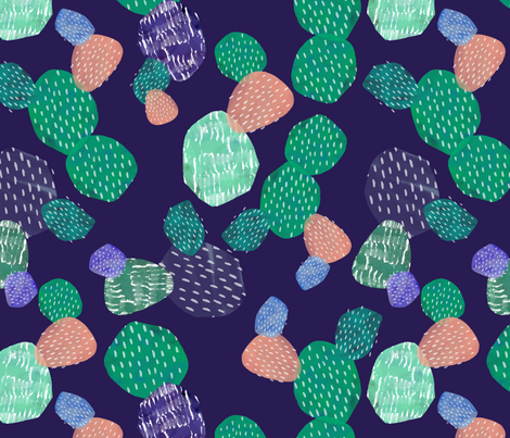 Abstract Cactus Purple fabric by lydia_meiying on Spoonflower - custom fabric