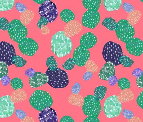 Abstract Cactus Pink fabric by lydia_meiying on Spoonflower - custom fabric