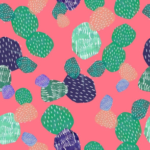 Abstract Cactus Pink
