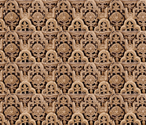 Stone Alhambra fabric by amyvail on Spoonflower - custom fabric