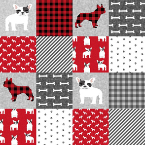 french bulldog black and white coat pet quilt a dog quilt collection