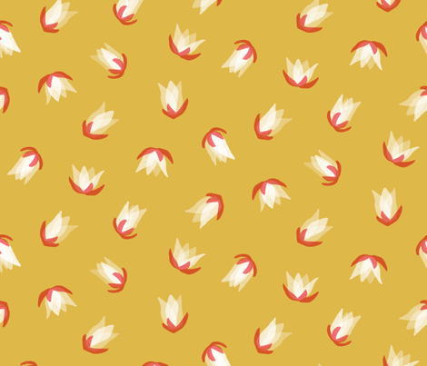 Tulip yellow  fabric by nespola_designs on Spoonflower - custom fabric