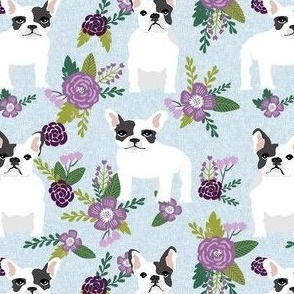 french bulldog black and white coat pet quilt c dog collection floral