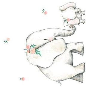 "7"" Pink Elephant 90 degrees"