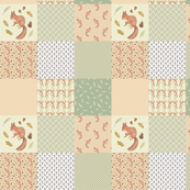 Squirrel cheater quilt