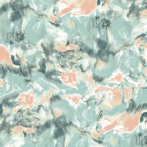 Marble Mist Green Peach Large Scale