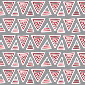 Triangulate - Geometric Grey & Red