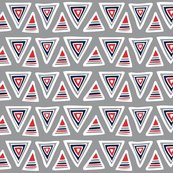 Triangulate - Geometric Grey, Red & Navy