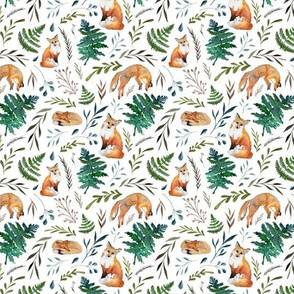 fox ferns and leaves (small)