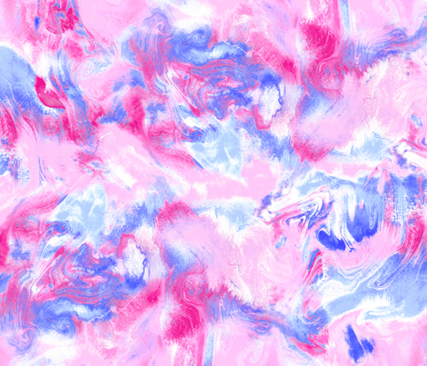 Marble Mist Pink and Blue Large Scale fabric by mjmstudio on Spoonflower - custom fabric
