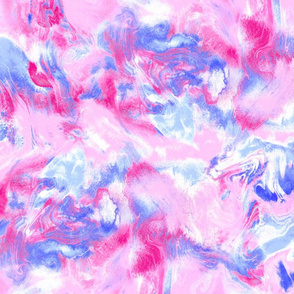 Marble Mist Pink and Blue Large Scale
