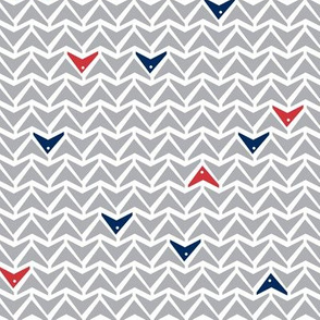 Take Flight - Geometric Gray, Red & Navy