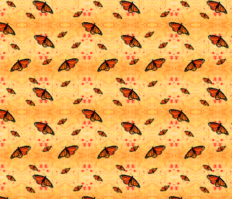 Monarch butterfly fabric by meterlimit on Spoonflower - custom fabric