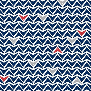 Take Flight - Geometric Navy, Red & Gray