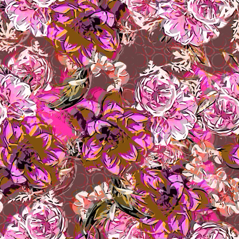 Floral Profusion fuschia fabric by joanmclemore on Spoonflower - custom fabric