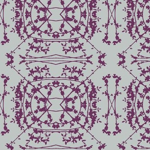 China (Plum on Grey)