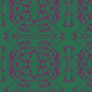 China (Plum on Dark Green)