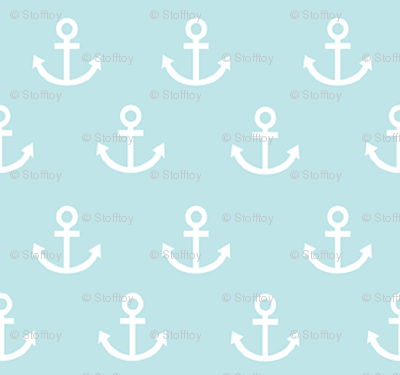 anchors on teal