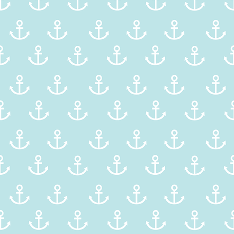 anchors on teal fabric by stofftoy on Spoonflower - custom fabric