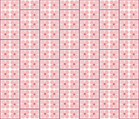 Cheater Pink Forget-Me-Nots fabric by twigsandblossoms on Spoonflower - custom fabric