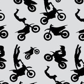 Motocross Rider Mix Light Gray