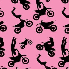 Motocross Rider Mix Pink