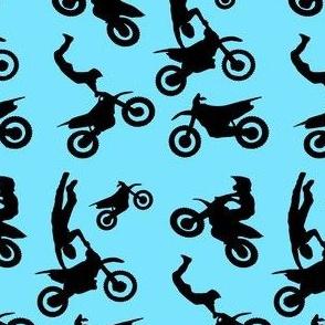 Motocross Rider Mix Blue