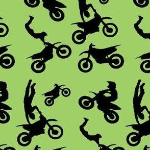 Motocross Rider Mix Green