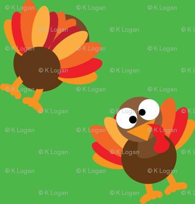 Thanksgiving Turkey Funny Face Turkey